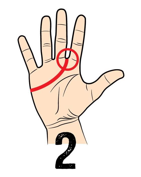 02. 優しくて信頼あるタイプ (人を信じすぎちゃう) 人差し指と中指の間にラインが伸びている人