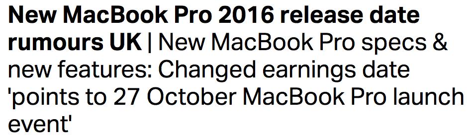 俺は買う!新型 MacBook Pro 2016の発売日・スペック・CPUにKaby Lake!?