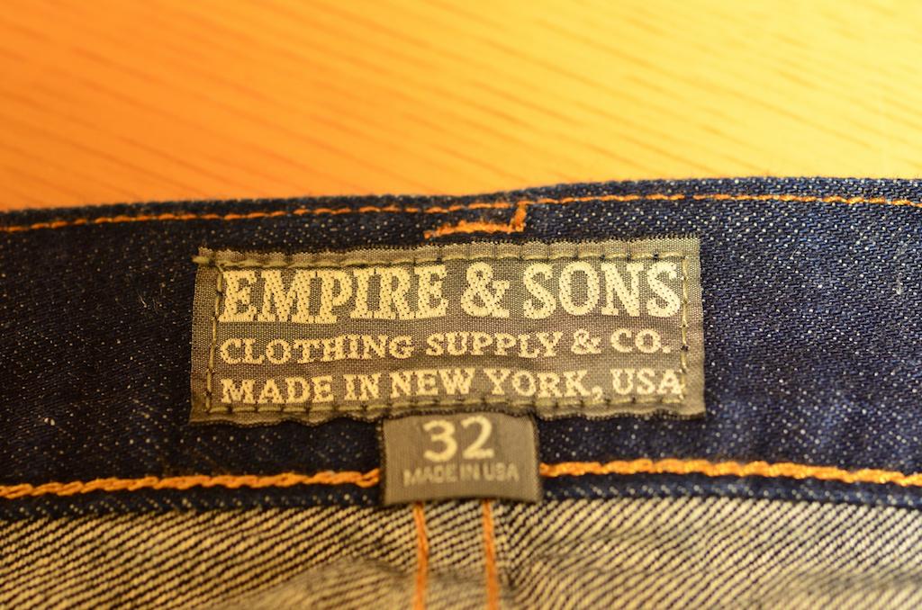 こんな感じ!EMPIRE&SONS エンパイアアンドサンズ スリムストレートジーンズ