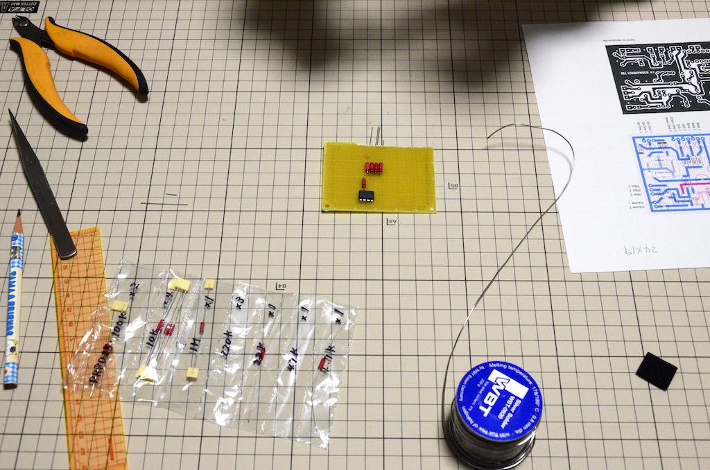 エフェクター自作1−2 制作に取り掛かる!ビットコマンダー(Bit Commander)作るぜ!