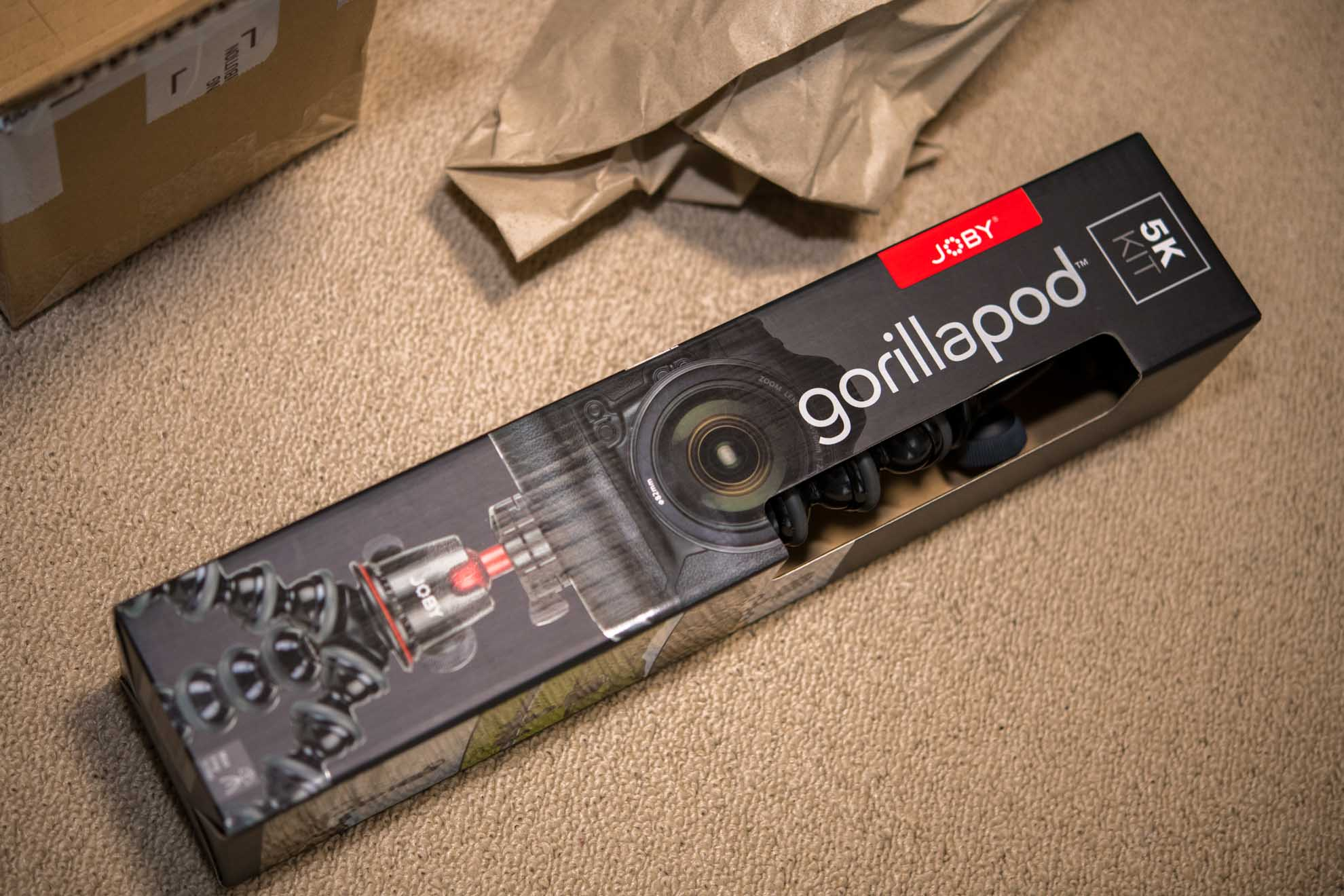 ゴリラポッド5Kのパッケージ