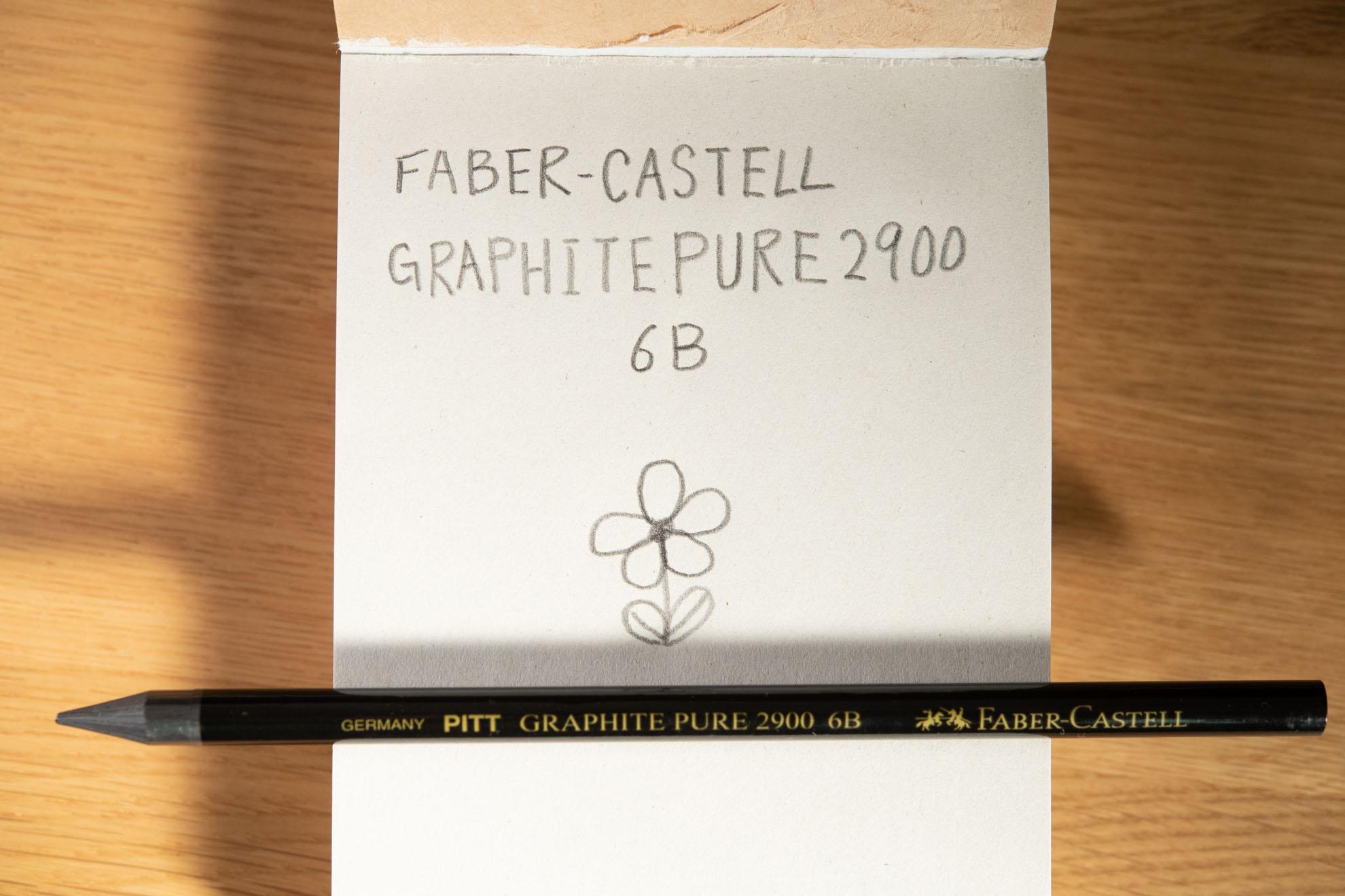 PITTグラファイト鉛筆6B(Faber-Castell)