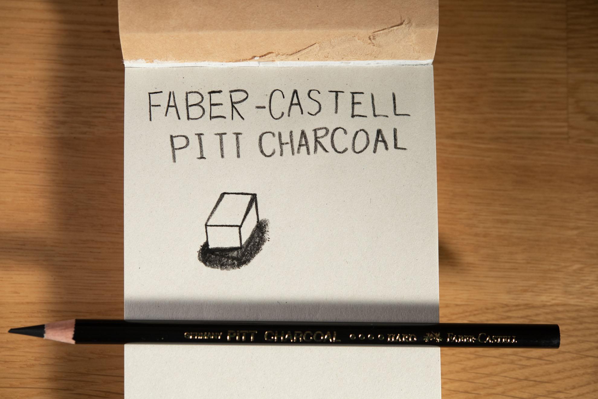 PITTナチュラルチャコール鉛筆(ハード)Faber-Castell